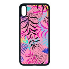 Leaves Iphone Xs Max Seamless Case (black) by Wmcs91
