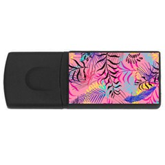 Leaves Rectangular Usb Flash Drive