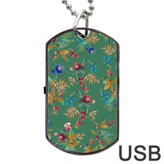 Tropical Paradise Dog Tag Usb Flash (two Sides) by tarastyle