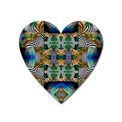 Tropical Paradise Heart Magnet by tarastyle