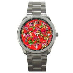 Tropical Paradise Sport Metal Watch by tarastyle