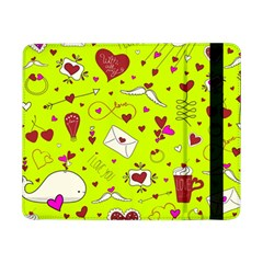 Valentin s Day Love Hearts Pattern Red Pink Green Samsung Galaxy Tab Pro 8 4  Flip Case