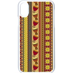 Traditional Africa Border Wallpaper Pattern Colored 4 Iphone Xs Seamless Case (white) by EDDArt