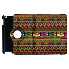 Traditional Africa Border Wallpaper Pattern Colored Apple Ipad 2 Flip 360 Case by EDDArt