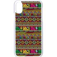 Traditional Africa Border Wallpaper Pattern Colored Iphone Xs Seamless Case (white) by EDDArt
