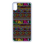 Traditional Africa Border Wallpaper Pattern Colored iPhone XS Max Seamless Case (White) Front