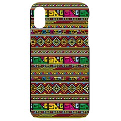 Traditional Africa Border Wallpaper Pattern Colored Iphone Xr Black Uv Print Case by EDDArt