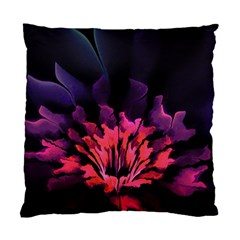 Floral Pink Fractal Painting Standard Cushion Case (one Side)