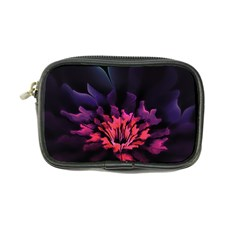 Floral Pink Fractal Painting Coin Purse