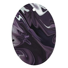 Purple Marble Digital Abstract Ornament (oval)