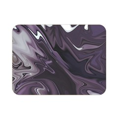 Purple Marble Digital Abstract Double Sided Flano Blanket (mini)