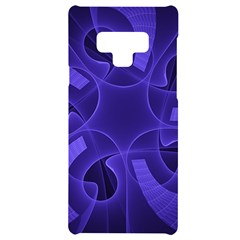 Fractal Blue Star Abstract Samsung Note 9 Black Uv Print Case
