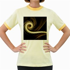 Fractal Background Pattern Curve Women s Fitted Ringer T Shirt