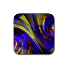 Soft Swirls Fractal Design Rubber Coaster (square)