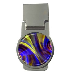 Soft Swirls Fractal Design Money Clips (round)