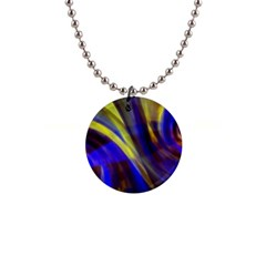 Soft Swirls Fractal Design 1  Button Necklace by Pakrebo