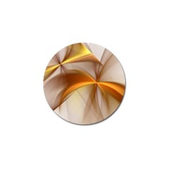 Abstract Gold White Background Golf Ball Marker