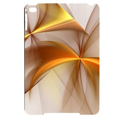 Abstract Gold White Background Apple Ipad Mini 4 Black Uv Print Case