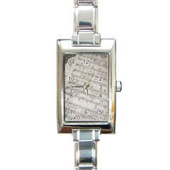 Sheet Music Paper Notes Antique Rectangle Italian Charm Watch by Pakrebo
