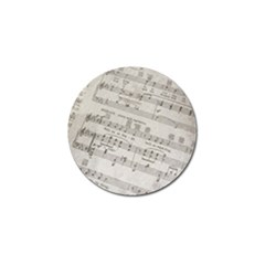 Sheet Music Paper Notes Antique Golf Ball Marker (10 Pack) by Pakrebo