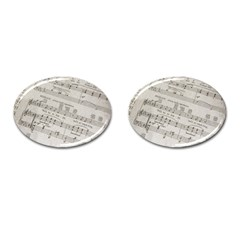Sheet Music Paper Notes Antique Cufflinks (oval)