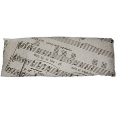 Sheet Music Paper Notes Antique Body Pillow Case (dakimakura) by Pakrebo