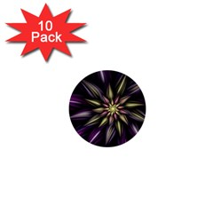 Fractal Flower Floral Abstract 1  Mini Buttons (10 Pack)
