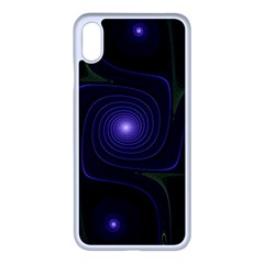Fractal Colors Pattern Abstract Iphone Xs Max Seamless Case (white)