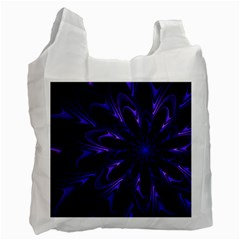 Fractal Blue Mandala Digital Recycle Bag (one Side) by Pakrebo