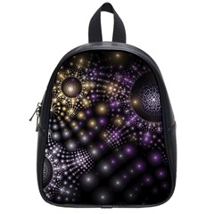 Fractal Spheres Glitter Design School Bag (small)