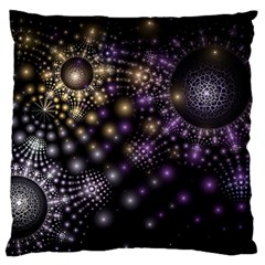 Fractal Spheres Glitter Design Large Flano Cushion Case (two Sides)
