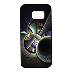 Fractal Fractal Art Multi Color Samsung Galaxy S7 Black Seamless Case