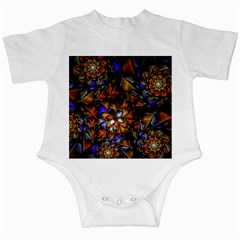 Fractal Spiral Flowers Pattern Infant Creepers