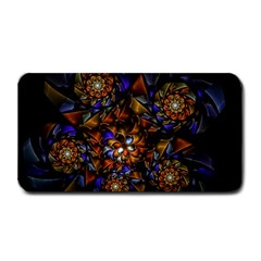 Fractal Spiral Flowers Pattern Medium Bar Mats by Pakrebo
