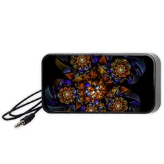 Fractal Spiral Flowers Pattern Portable Speaker