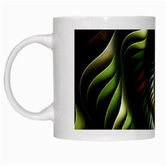 Fractal Christmas Colors Christmas White Mugs