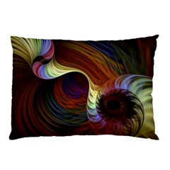 Fractal Colorful Rainbow Flowing Pillow Case
