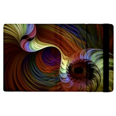 Fractal Colorful Rainbow Flowing Apple Ipad Pro 12 9   Flip Case