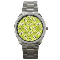 Colorful Abstract Pattern Sport Metal Watch by tarastyle
