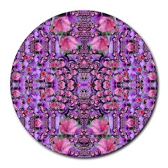 World Wide Blooming Flowers In Colors Beautiful Round Mousepads