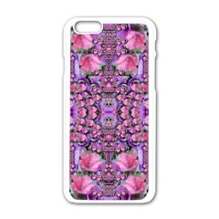 World Wide Blooming Flowers In Colors Beautiful Iphone 6/6s White Enamel Case by pepitasart