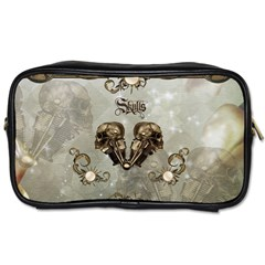 Awesome Mechanical Skull Toiletries Bag (two Sides) by FantasyWorld7
