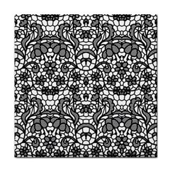 Lace Seamless Pattern With Flowers Tile Coasters by Sobalvarro