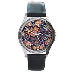 Paisley Round Metal Watch by Sobalvarro