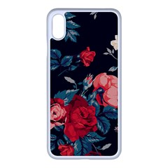 Vintage Roses Vector Seamless Pattern 02 Iphone Xs Max Seamless Case (white)