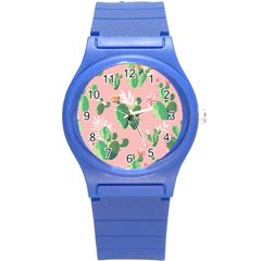 Vintage Plant Seamless Pattern Vectors 06 Round Plastic Sport Watch (s) by Sobalvarro