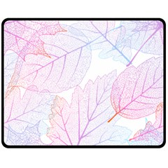 Beautiful Autumn Leaves Vector Seamless Pattern 02 Double Sided Fleece Blanket (medium)  by Sobalvarro