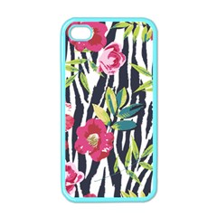 Seamless Flower Patterns Vector 01 Iphone 4 Case (color)
