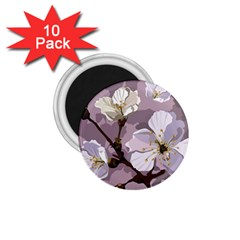 Peach Blossom Seamless Pattern Vector 1 75  Magnets (10 Pack)  by Sobalvarro