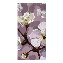 Peach Blossom Seamless Pattern Vector Shower Curtain 36  X 72  (stall)  by Sobalvarro